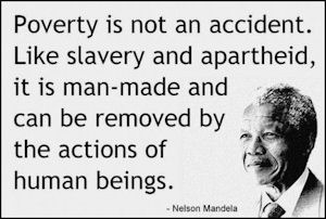 Poverty is man made